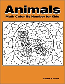 animals math color by number color by number coloring books for kids with 23 large pages full color animals kids coloring books ages 4 8 number - Color By Number Books