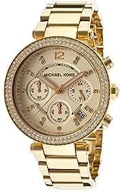 MK5354 Michael Women's Parker Rhinestones Gold-Tone Analog Quartz Watch