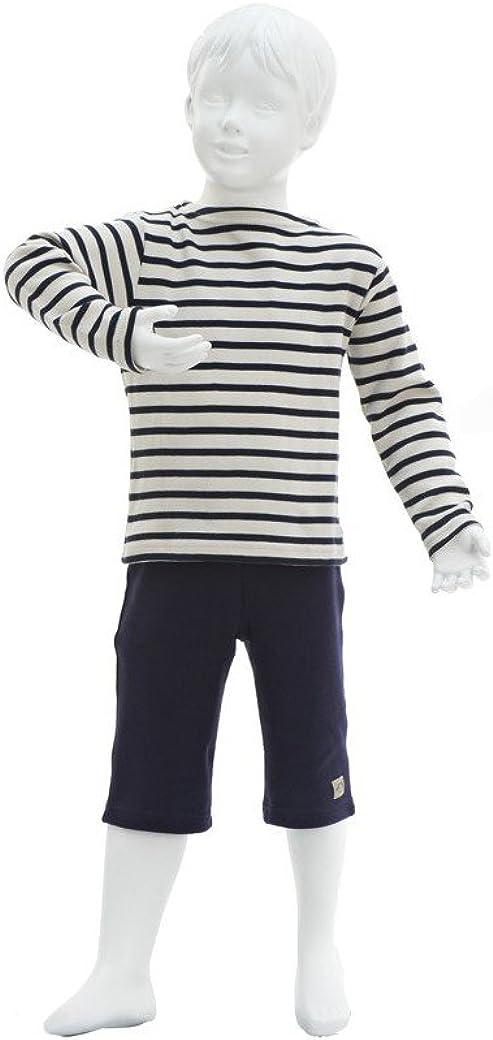 Armor Lux Natur//Navy Loctudy Kids Shirt gestreift
