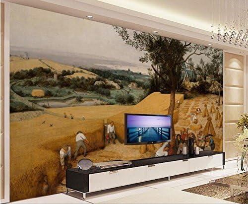 Weaeo 3D壁紙カスタム壁画不織壁のステッカー田舎の収穫の背景壁画絵画3D壁の壁紙の壁紙-400X280Cm
