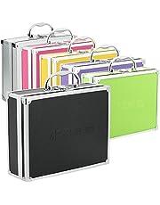 Aluminium koffer box in verschillende kleuren met schuimvulling zwart