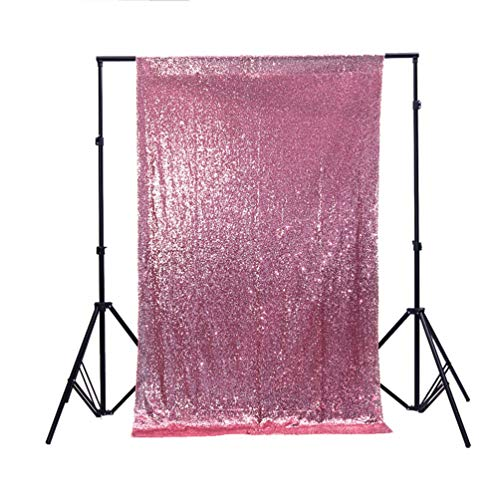 Zdada 5FTX9FT Not Through Sequin Makeup Tutorials Backdrop for Video-Blush -