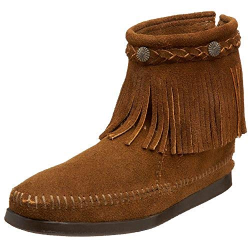 (Minnetonka Women's Dusty Brown Suede Hi Top Back Zip Boot 10 B(M))