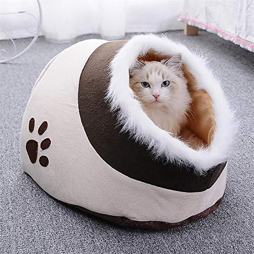 Queta Hundebetten Katzenbett Schöne Tierbett,Klein Hund Bett Haustierbett Plüsch Weich Katze Schlafen Bett
