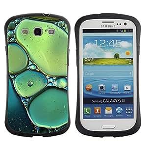Suave TPU GEL Carcasa Funda Silicona Blando Estuche Caso de protección (para) Samsung Galaxy S3 I9300 / CECELL Phone case / / Sun Spring Nature Bubbles Teal Green /