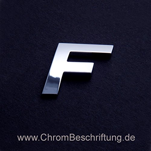 Chrombuchstaben Auto-Schrift 3D-Buchstaben 'F' 26mm MBD-ChromShop