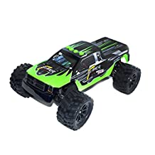 ALEKO® 66212 Electric Powered Brushless Motor High Speed Off-Road Monster Truck, Green 1/12 Scale
