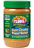 Teddie All Natural Peanut Butter, Super Chunky, 26-Ounce Jar (Pack of 3)