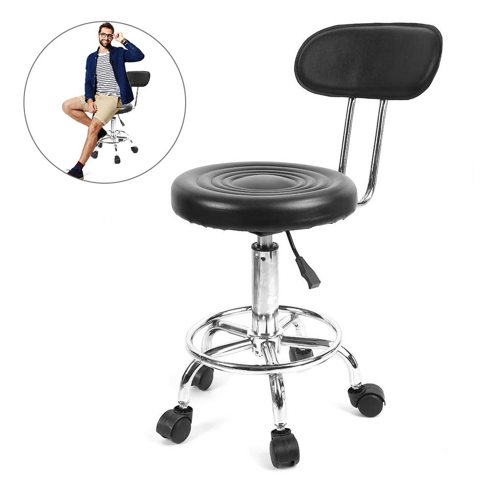 Salon Stool, Adjustable Work Swivel Cosmetic Stool Height with Casters for Hairdresser Styling Chair Barber Massage Beauty Tattoo Studio Yotown