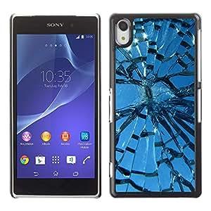 TECHCASE**Cubierta de la caja de protección la piel dura para el ** Sony Xperia Z2 D6502 D6503 D6543 L50t L50u ** Broken Glass Sun Window Blue Sky