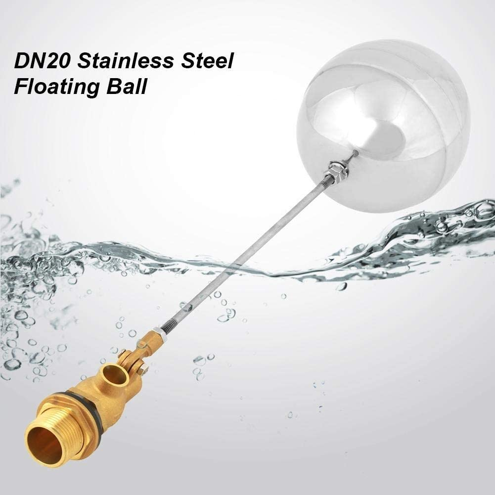 Float Valve-G3//4 DN20 Male Thread Water Sensor Float Adjustable Stainless Steel Floating Ball Valve