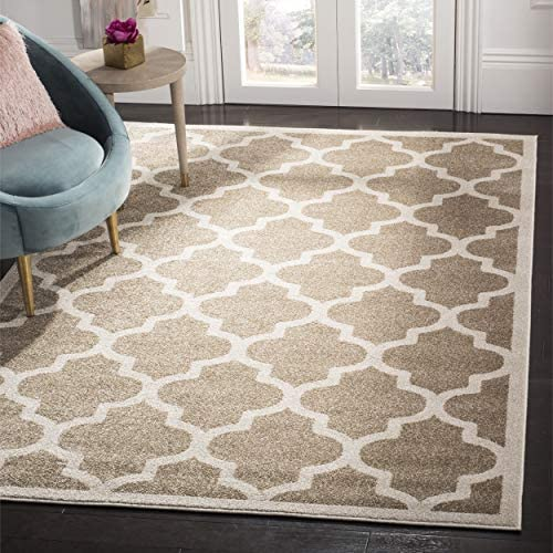Safavieh Amherst Collection AMT420S Moroccan Geometric Area Rug, 9 x 12 , Wheat Beige