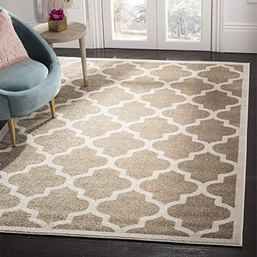 Safavieh Amherst Collection AMT420S Moroccan Geometric Area Rug, 3 x 5 , Wheat Beige