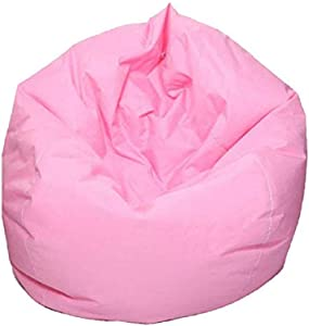 Mekysd Home Soft Lazy Sofa Cozy Single Chair Durable Furniture Unfilled Lounge Bean Bag (Pink)