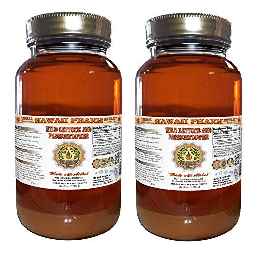 2-in-1! Wild Lettuce & Passion Flower Tincture, ORGANIC Wild Lettuce (Lactuca Virosa) & Passion Flower (Passiflora Incarnata) Liquid Extract, Hawaii Pharm trusted brand, 2x32 oz by Hawaii Pharm LLC (Image #4)