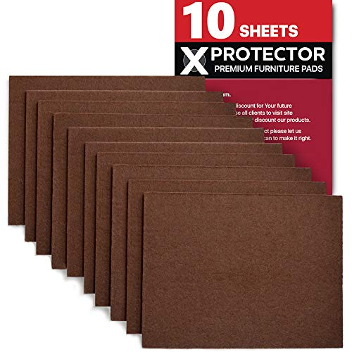 Felt Furniture Pads X-PROTECTOR 10 Pack Premium 8