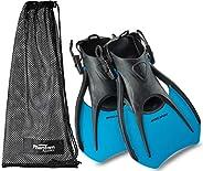 Phantom Aquatics Rapido Boutique Collection Marine Open Heel Adjustable Snorkeling Swim Fin