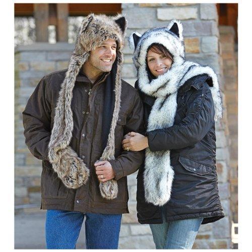 Wishpets Stuffed Animal - Soft Plush Toy for Kids - Mink Wolf Hat]()