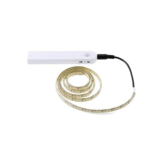Motion Sensor - Perchero con luz LED y batería de repuesto ...