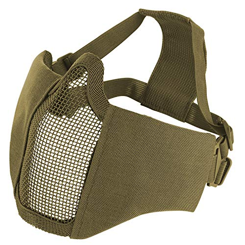 Barbarians Half Face Steel Mesh Mask Foldable 6