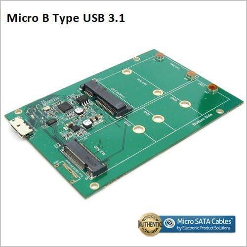 mSATA SSD Adapter Board USB 3.1 Micro B Connector to M.2