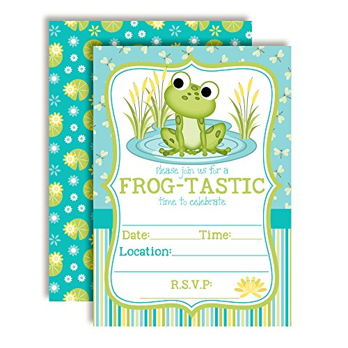 Little Frog Birthday Party Invitations for Boys, 20 5