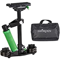IMORDEN Aluminum S-40a Handheld Camera Stabilizer for Gopro, Sony, Panasonic DSLR Camera(0.5~2.3lbs) with Quick Release Plate(1/4 Screw) and Counterweight(100gx4)