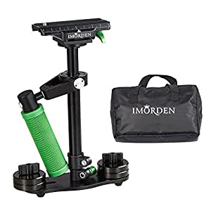 IMORDEN Aluminum S-40a Handheld Camera Stabilizer for Gopro, Sony, Panasonic DSLR Camera(0.5~2.3lbs) with Quick Release Plate(1/4'' Screw) and Counterweight(100gx2, 50gx4)