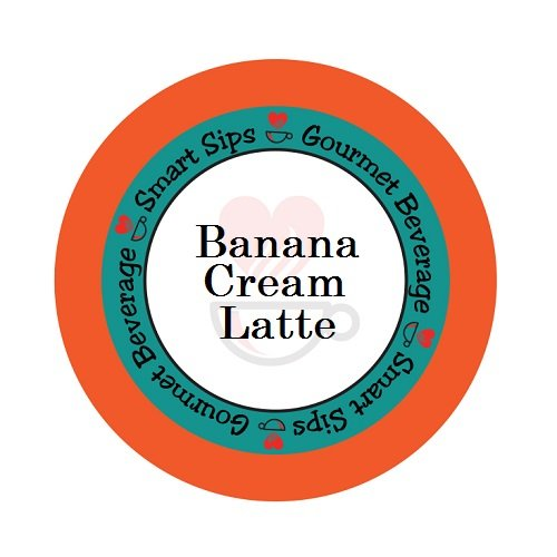 (Smart Sips Coffee, Banana Cream Latte, For Keurig K-cup Brewers, 24 Count)