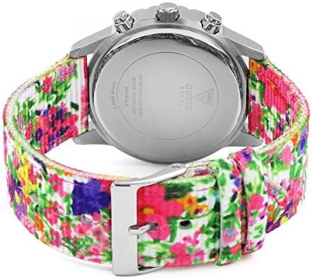 Guess Femme Multi-Cadrans Quartz Montre avec Bracelet en Nylon W0903L1