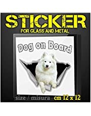 Stickers Dog on Board for car - Autosticker - SAMOYED SAMOIEDO