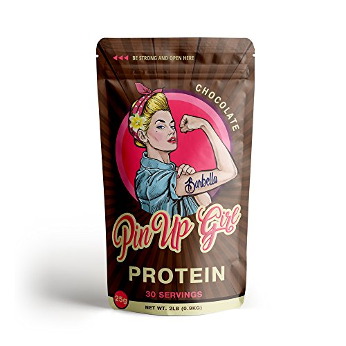 Pin Up Girl Protein Whey Isolate Powder - 25 Grams of Protein Per Serving - Chocolate - Low Calorie, Fat Free, Sugar Free, Zero Carb - for Women (30 Servings)