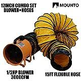 MOUNTO Combo Heavy Duty Cylinder Fan with 25-Foot