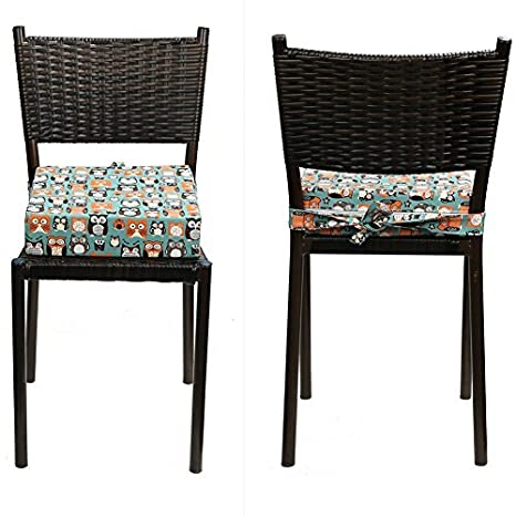 Zicac Kids High Chair Portable Booster Seat Cushion Travel Dining Seat Pad Dark Blue,12.6x12.6x3.1