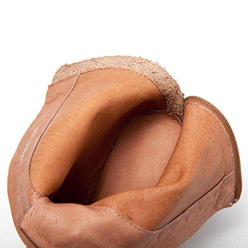 Stivali Tessuto marrone Vera Autunno Donne Delle Nsxz E Del Propria Del Cerniera 40 Inverno Mano Moda Cuoio Posteriore 7F5Tpqx