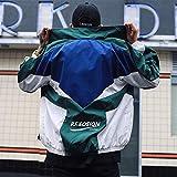 Retro Colorblocked Track Jacket Windbreaker Jacket