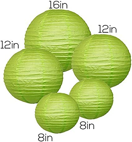 16inch Green Chinese//Japanese Paper Lanterns Just Artifacts 2 12inch, 2 - Click for More Colors! Assorted: 1 8inch,