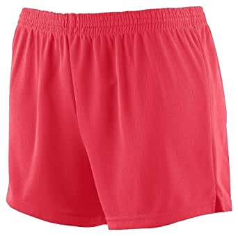 Augusta Sportswear Girls Wicking Mesh Cheer Short S Red
