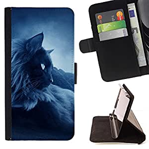 Momo Phone Case / Flip Funda de Cuero Case Cover - Oscuro siamés tailandés Birman Gato Negro; - Motorola Moto E ( 1st Generation )