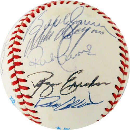 NY YANKEES 1982 TEAM SIGNED BALL GOSSAGE GRIFFEY MURCER JOHN MAY KING CERONE + (Team Signed Collage)