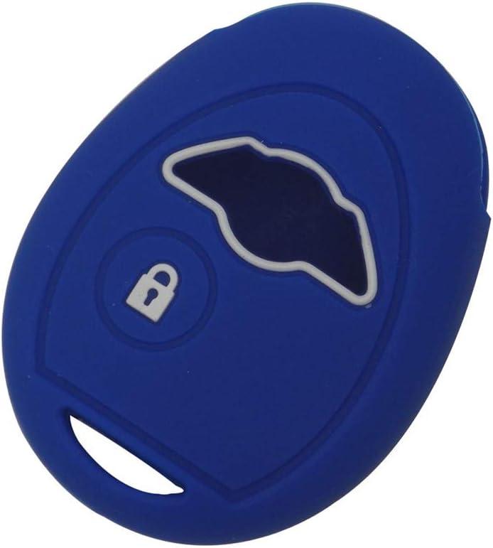 Happyit Cubierta de la Caja de la Llave del Coche de Silicona para BMW Mini Cooper S R50 R53 1 Botón (Azul)