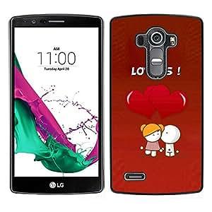 // PHONE CASE GIFT // Duro Estuche protector PC Cáscara Plástico Carcasa Funda Hard Protective Case for LG G4 / Cute Lovers Coupkle /