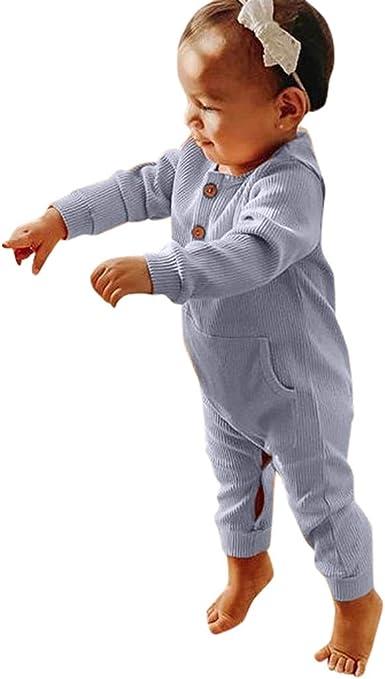 MAYOGO Bebé Pijama Invierno Mameluco Manga Larga Niños Color ...
