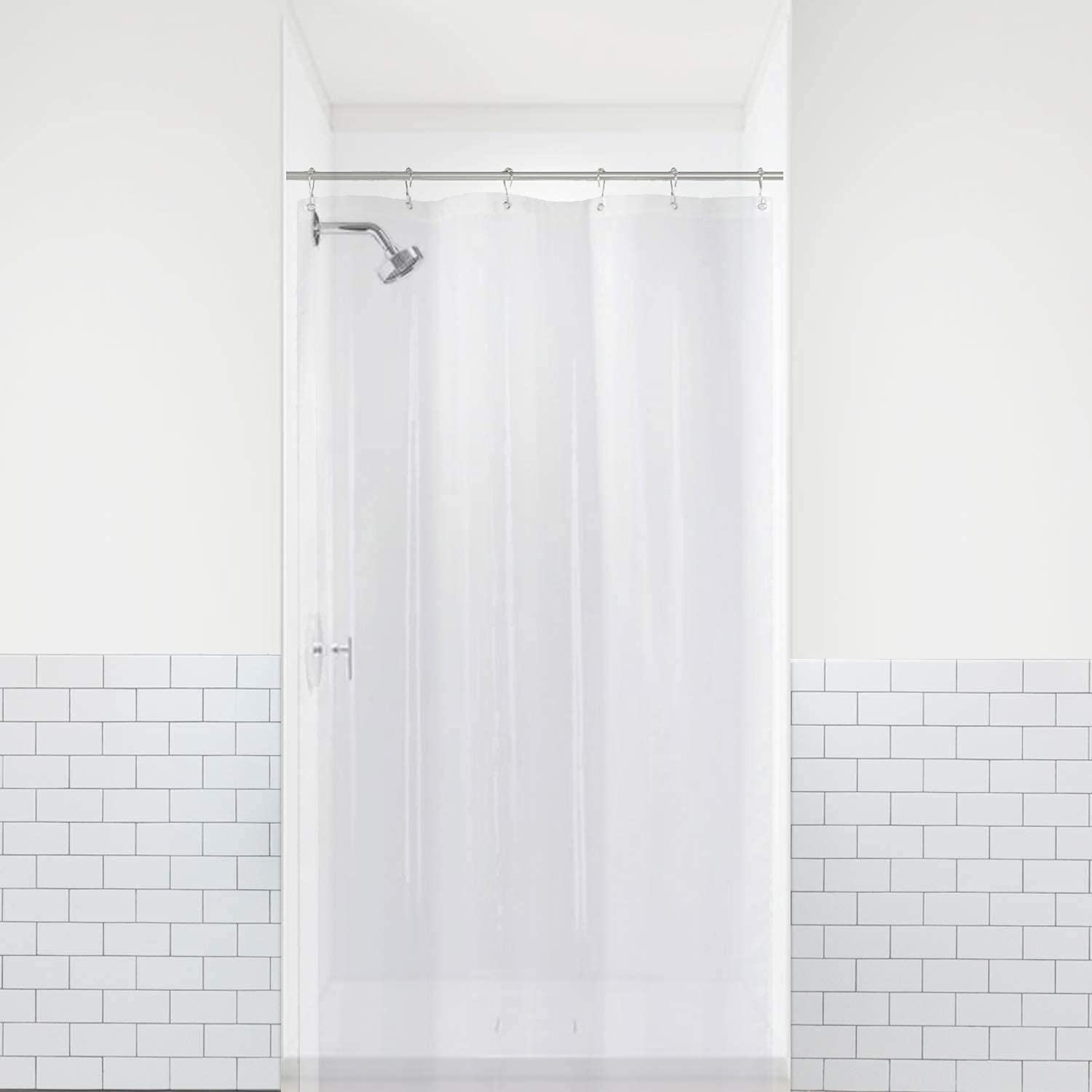 LiBa Mildew Resistant Anti-Microbial PEVA 8G Shower Curtain Liner 36x72, Clear