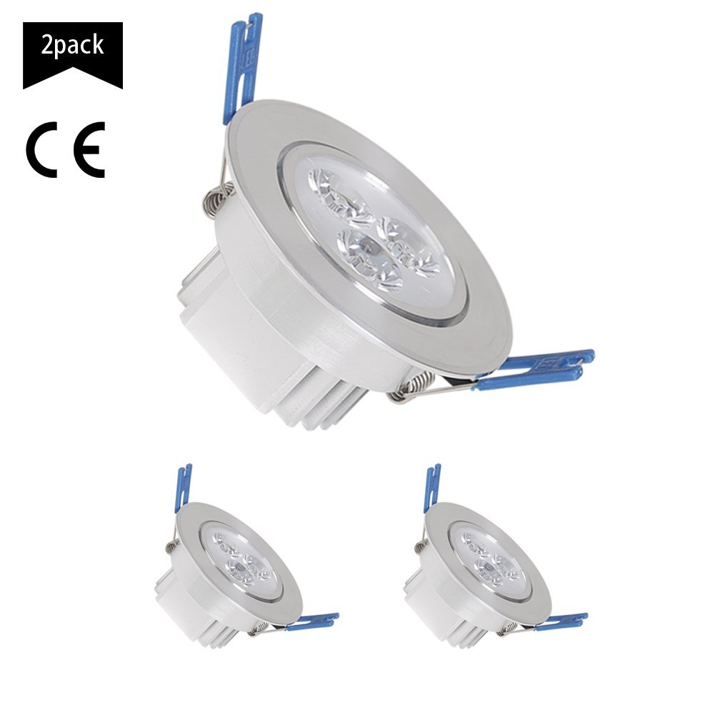 Spot Down Light Fixture, 2.5 inch LED Downlight, LED Recessed Lighting Fixture Ceiling Light (Blue, 5w)