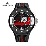 Reef Tiger Sport Watch with Chronograph Date Dashboard Steel Rubber Quartz Stop Watch RGA3027