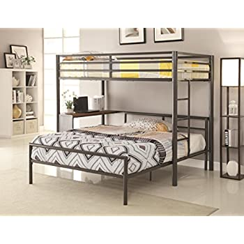 Amazon Com Coaster Home Twin Over Full Workstation Loft Bed