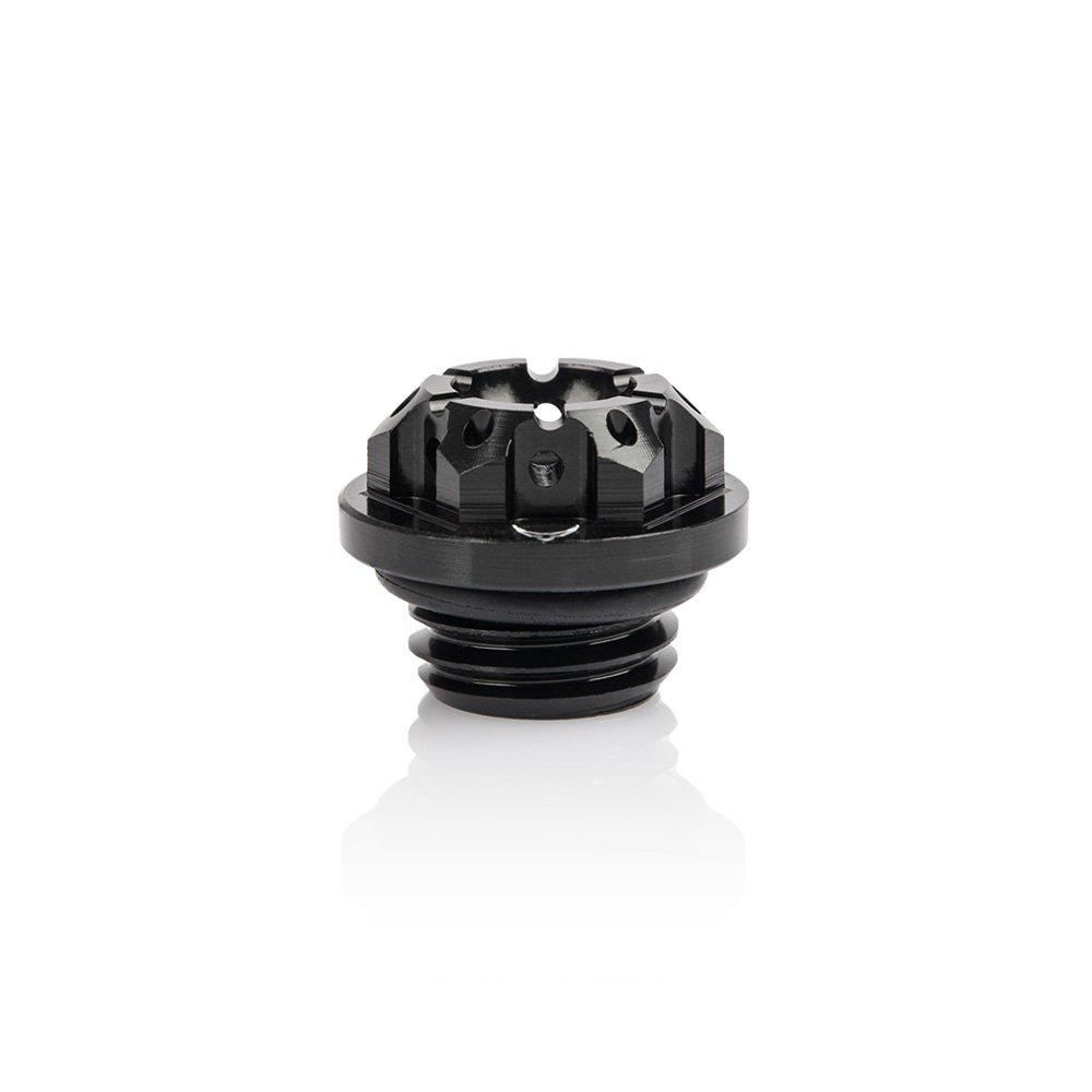 Honda Ö ldeckel, gefrä st, schwarz Racefoxx RF022390