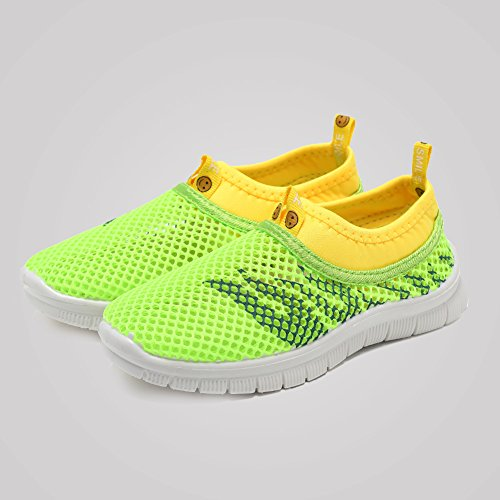 CIOR Kids Light Weight Sneakers AquaShoes Breathable Slip-on For Running Pool Beach Toddler / Little Kid,S644Green,26 6