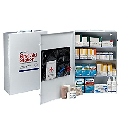 First Aid Only 6175 757 Piece Steel Cabinet Industrial 4 Shelf Wall Mountable First Aid Station by Acme United